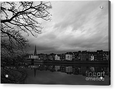 Gloomy Evening Acrylic Print by Rajiv Chopra