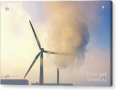 Gloomy Industrial View. Acrylic Print