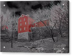 Gloomy Looking Old Red Mill Acrylic Print