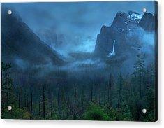 Gloomy Mountain Acrylic Print