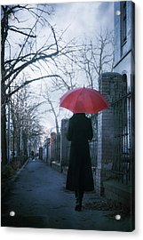 Gloomy Street Acrylic Print by Cambion Art