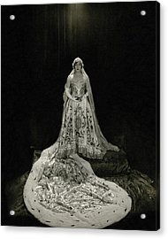 Gloria Swanson Wearing A Costume Acrylic Print by Edward Steichen