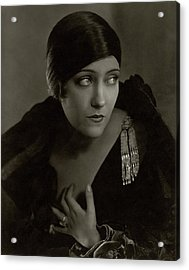 Gloria Swanson Wearing A Pin Acrylic Print by Edward Steichen
