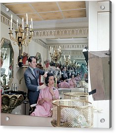 Gloria Vanderbilt At The Revlon Boutique Acrylic Print