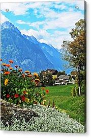 Glorious Alpine Meadow Acrylic Print
