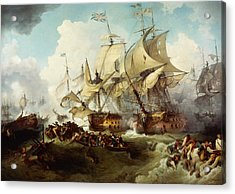 Glorious First Of June Or Third Battle Of Ushant Between English And French Acrylic Print