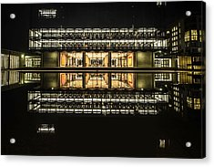 Glorious Modern Architecture At Night Acrylic Print