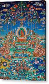 Glorious Sukhavati Realm Of Buddha Amitabha Acrylic Print by Art School