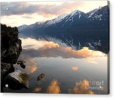 Glorious Sunset Acrylic Print by Leone Lund