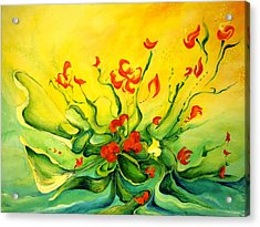 Acrylic Print featuring the painting Glorious by Teresa Wegrzyn