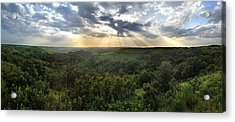 Glory Lights Over The Konza Prairie Acrylic Print