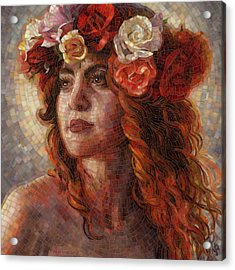 Acrylic Print featuring the painting Glory by Mia Tavonatti