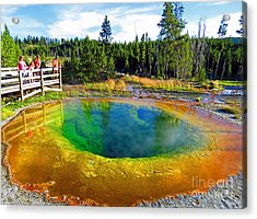 Glory Pool Yellowstone National Park Acrylic Print
