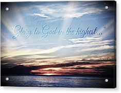 Glory To God Acrylic Print
