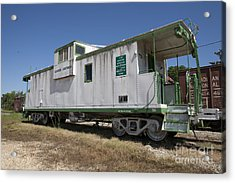 Gloster Caboose Acrylic Print by Russell Christie