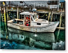 Gloucester Boat Acrylic Print by Fred LeBlanc