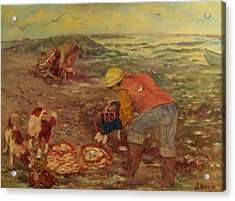 Gloucester Clam Diggers Acrylic Print by Beth Arroyo