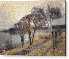 Gloucester Winter Morning - Vintage Acrylic Print by Joann Vitali
