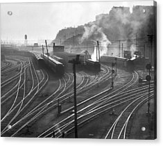 Glouster Railroad Yards Acrylic Print by Underwood Archives