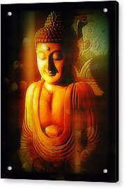 Glowing Buddha Acrylic Print