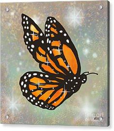 Glowing Butterfly Acrylic Print by Audra D Lemke