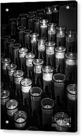 Glowing Candles In A Church Acrylic Print