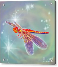 Glowing Dragonfly Acrylic Print by Audra D Lemke