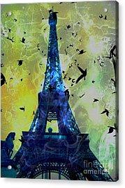 Glowing Eiffel Tower Acrylic Print