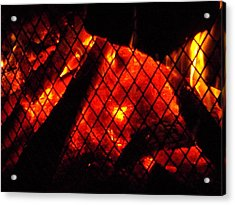 Acrylic Print featuring the photograph Glowing Embers by Darren Robinson