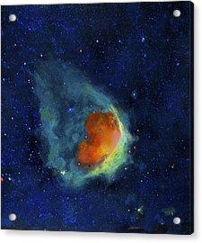 Glowing Emerald Nebula Acrylic Print by Jim Ellis