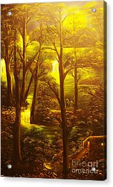 Glowing Evening Falls-original Sold- Buy Giclee Print Nr 28 Of Limited Edition Of 40 Prints   Acrylic Print