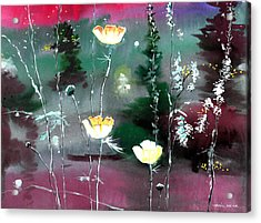 Glowing Flowers Acrylic Print by Anil Nene