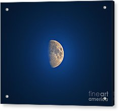 Glowing Gibbous Acrylic Print by Al Powell Photography USA