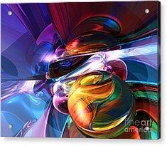 Glowing Life Abstract Acrylic Print