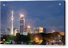Glowing Lights Of Kuala Lumpur - Malaysia - South East Asia Acrylic Print