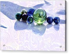 Acrylic Print featuring the photograph Glowing Marbles by Cynthia Lagoudakis