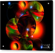 Glowing Marbles Acrylic Print
