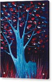 Glowing Night Acrylic Print by Anastasiya Malakhova
