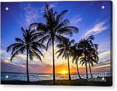 Glowing Orange Hawaiian Sunset Acrylic Print