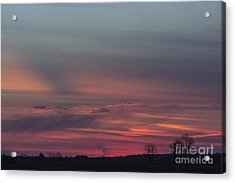 Glowing Plains Acrylic Print by Michael Waters