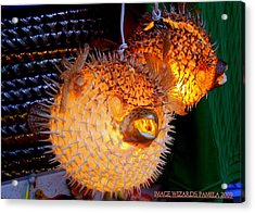 Glowing Pufferfish Acrylic Print
