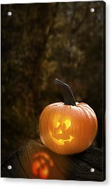 Glowing Pumpkin Acrylic Print