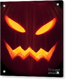 Glowing Pumpkin Acrylic Print