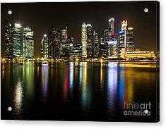 Glowing Singapore Acrylic Print