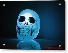 Glowing Skull Acrylic Print by Al Fritz