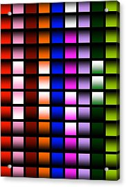 Acrylic Print featuring the digital art Glowing Squares  by Gayle Price Thomas