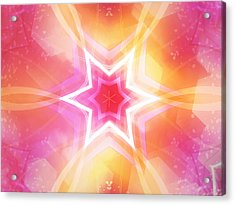 Glowing Star Acrylic Print by Ann Croon