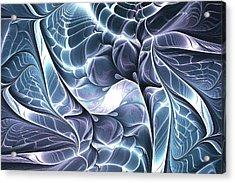 Glowing Structure Acrylic Print by Anastasiya Malakhova