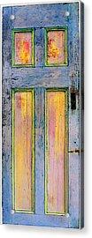 Glowing Through Door Acrylic Print by Asha Carolyn Young