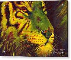 Glowing Tiger Acrylic Print